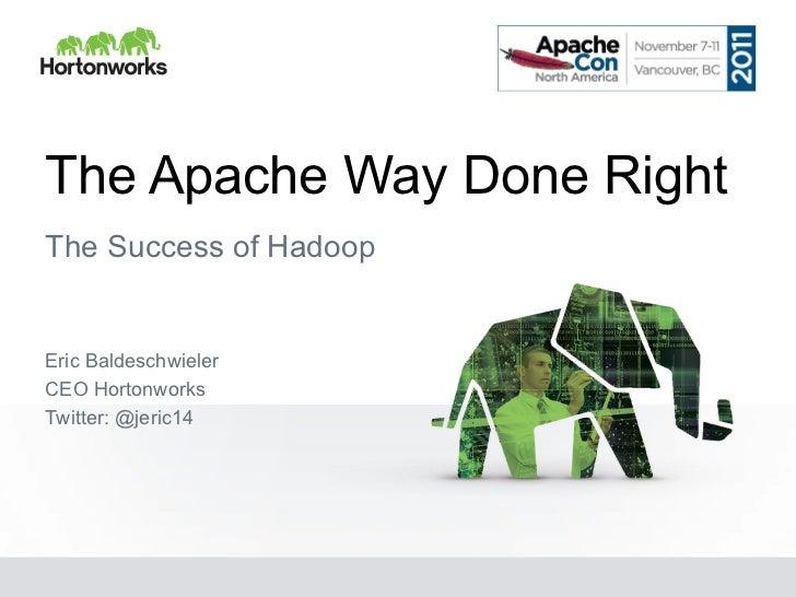 Keynote from ApacheCon NA 2011
