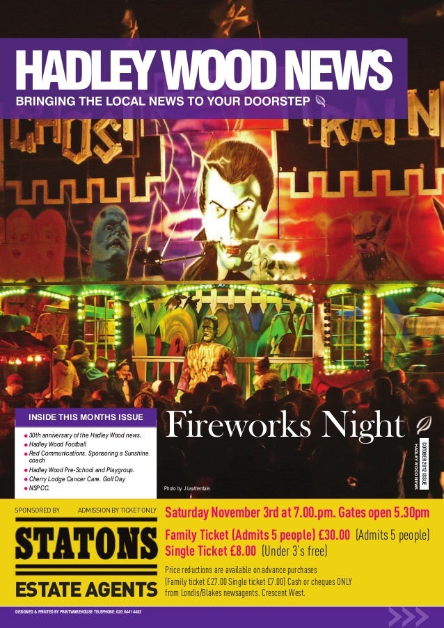 ESTATE AGENTSSPONSORED BY                  ADMISSION BY TICKET ONLY      INSIDE THIS MONTHS ISSUE      30th anniversary of...