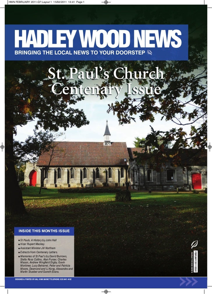 Hadley Wood News February 2011