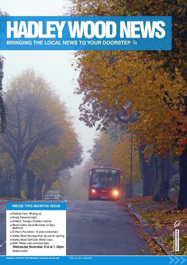 Hadley Wood News November 2012