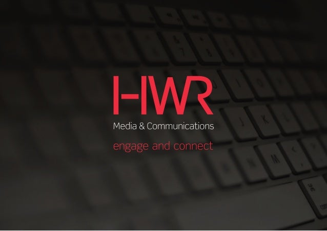 HWR Media & Communications. New corporate ID, new directions - same great service