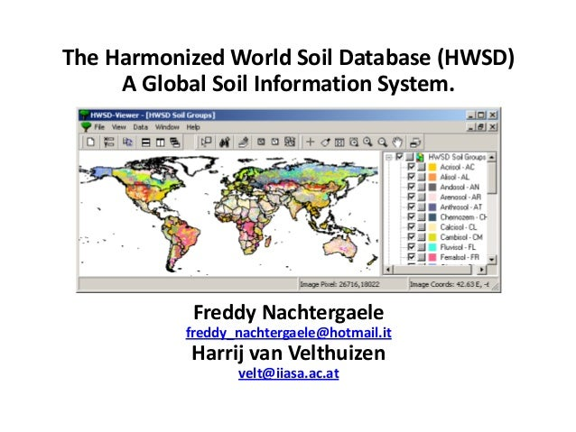 The harmonized world soil database hwsd a global soil for Soil details