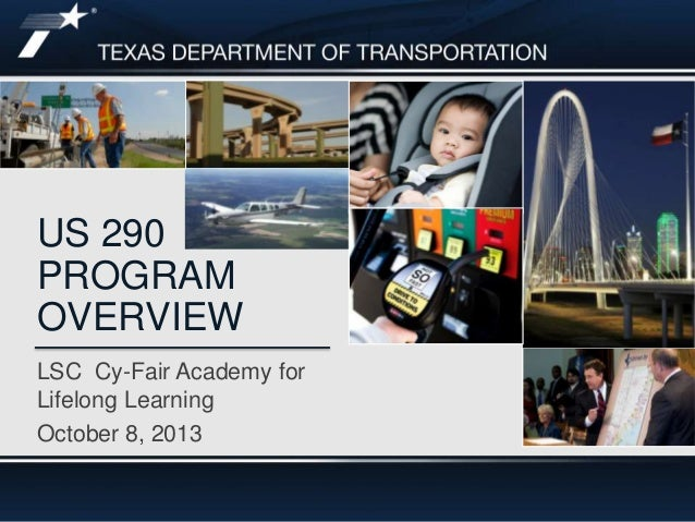 Footer Text LSC Cy-Fair Academy for Lifelong Learning October 8, 2013 US 290 PROGRAM OVERVIEW