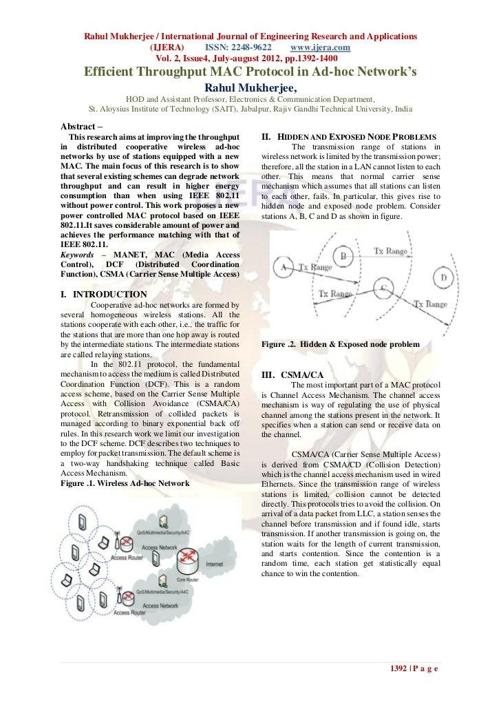 Rahul Mukherjee / International Journal of Engineering Research and Applications                     (IJERA)        ISSN: ...