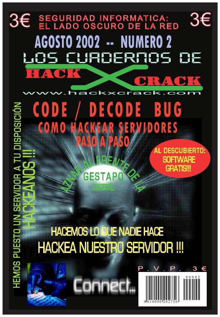 3€   S E G U R I D A D I N F O R M AT I C A :      EL LADO OSCURO DE LA RED                         3€      AGOSTO 2002 --...
