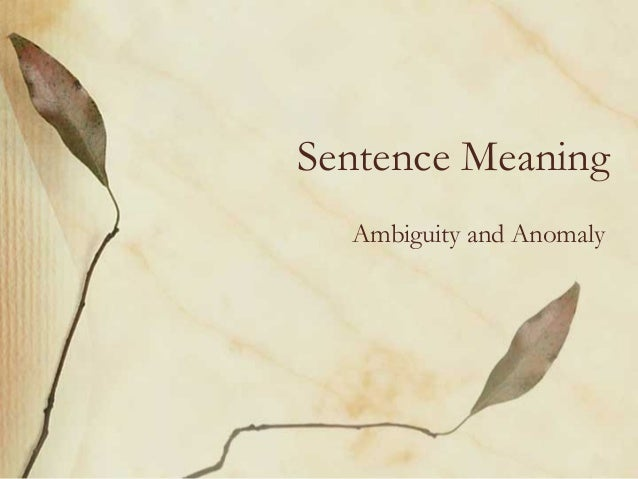 how to use anomaly in a sentence