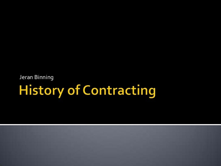 History of Governmet Contracting 4 31 jan 12 2
