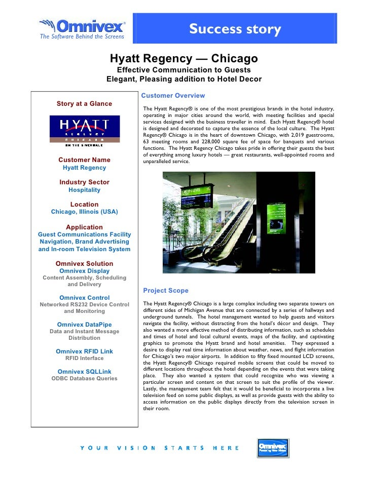 Hyatt Regency Chicago Success