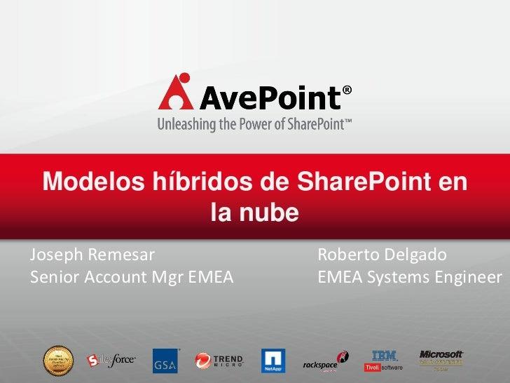 Modelos híbridos de SharePoint en la nube
