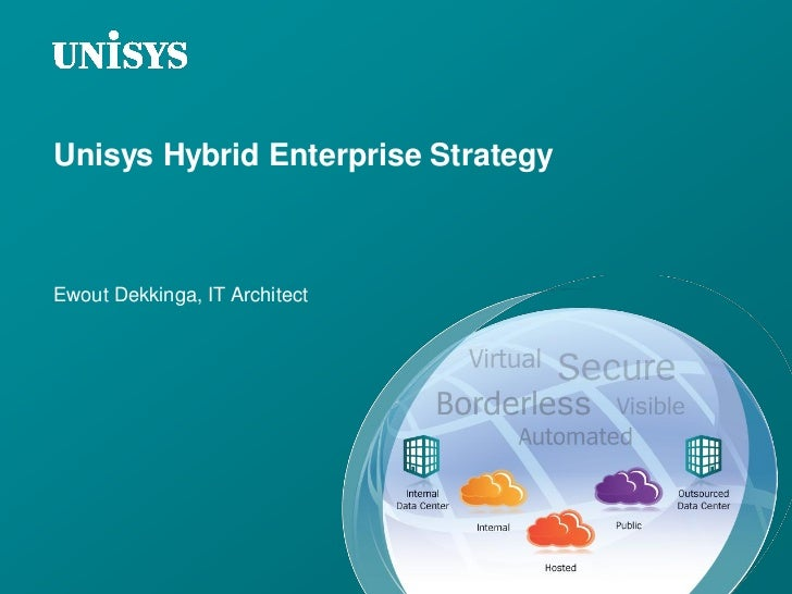 Unisys Hybrid Enterprise StrategyEwout Dekkinga, IT Architect