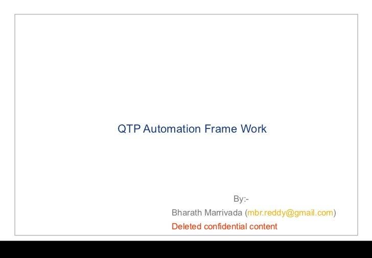 QTP Dual Function (Hybrid) Automation FrameWork