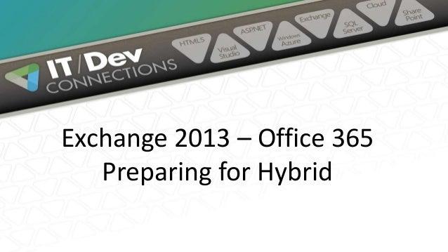 Preparing for an Exchange 2013 Hybrid