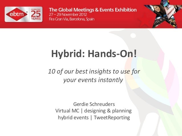 Hybrid: Hands-On!10 of our best insights to use for      your events instantly          Gerdie Schreuders  Virtual MC | de...
