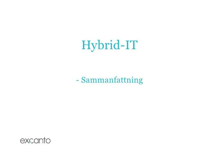 Hybrid it excanto