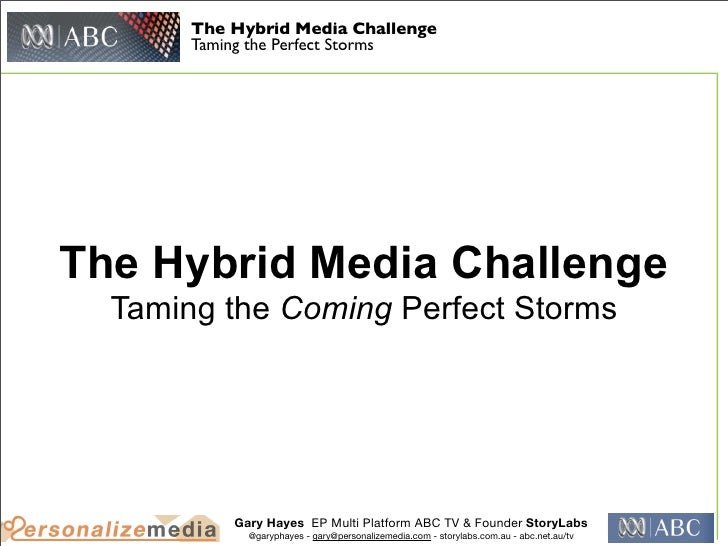 The Hybrid Media Challenge       Taming the Perfect StormsThe Hybrid Media Challenge  Taming the Coming Perfect Storms    ...