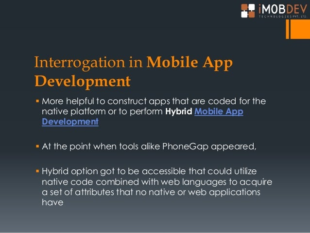 Hybrid Technology in Mobiles Perform Hybrid Mobile App