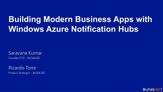 Hybrid organization   building modern business apps with windows azure notification