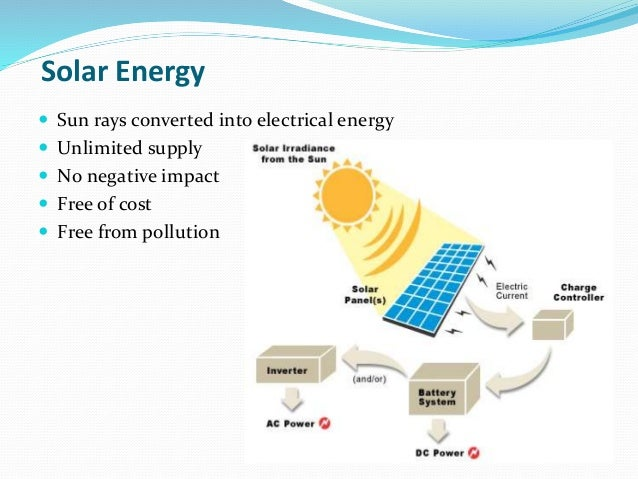 solar energy sun rays converted into electrical energy unlimited ...