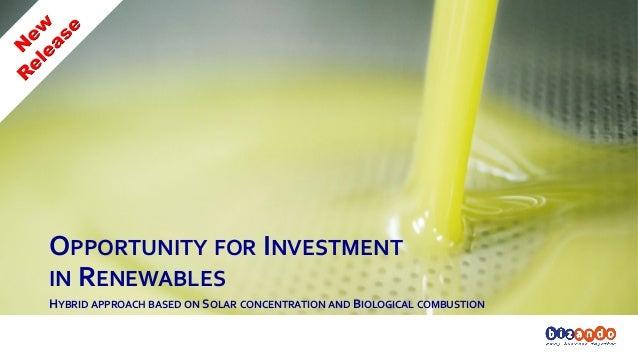 Bizando - Hybrid thermodynamic 175KW - Opportunity for Investment in Renewables