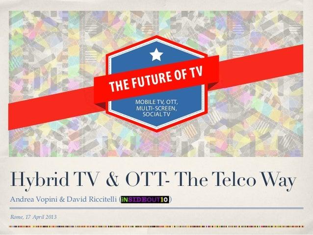 Hybrid TV & OTT TV for Telco 3.0