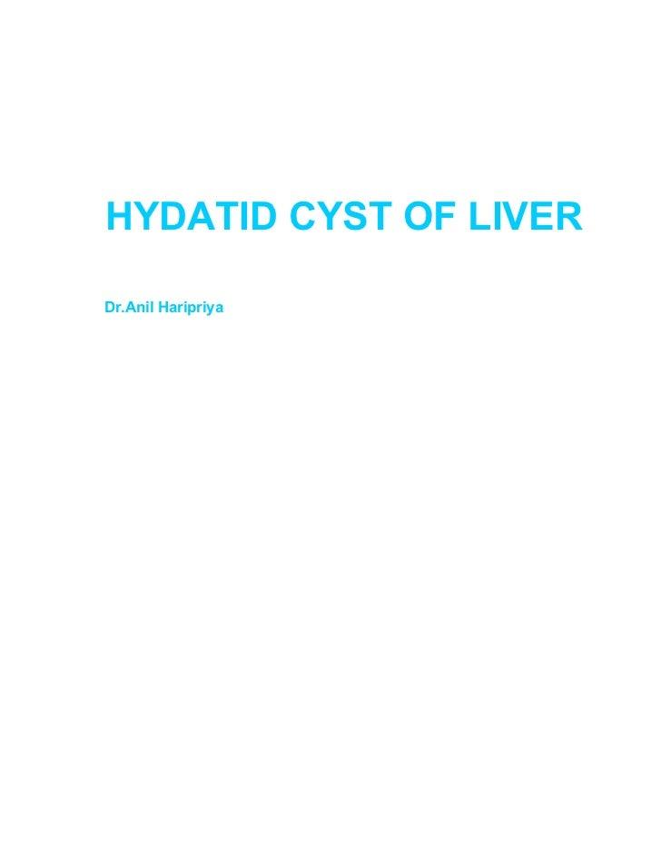 Hydatid Cyst Of Liver