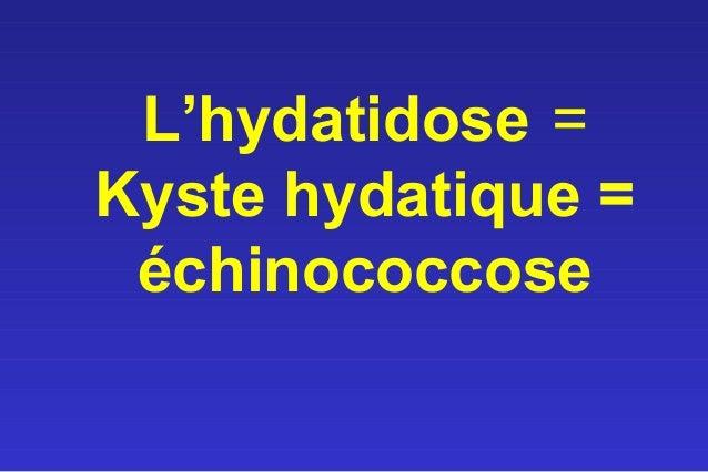 L'hydatidose =Kyste hydatique = échinococcose