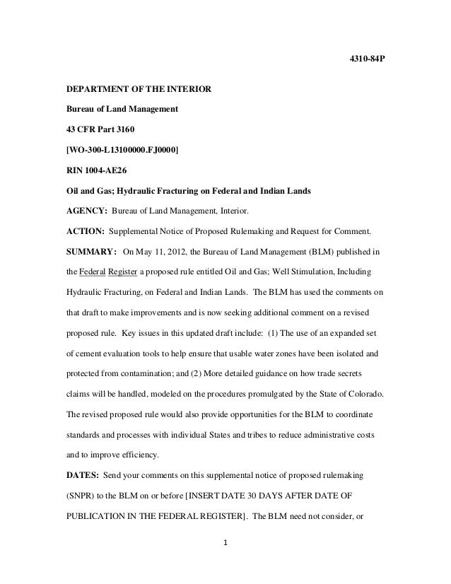 14310-84PDEPARTMENT OF THE INTERIORBureau of Land Management43 CFR Part 3160[WO-300-L13100000.FJ0000]RIN 1004-AE26Oil and ...