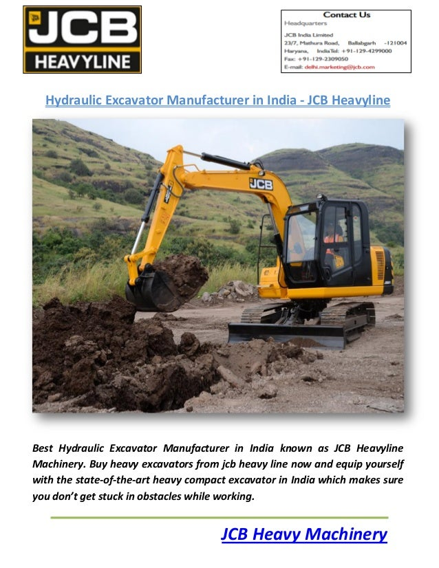 Hydraulic Pullers Manufacturers In India : Hydraulic excavator manufacturer in india jcb heavyline