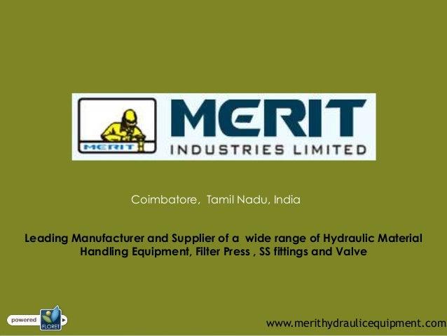 Hydraulic Equipment - Hydraulic Press Suppliers in India