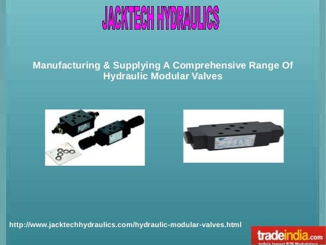 Hydraulic Modular Valves Exporter, Manufacturer, Ahmedabad, Gujarat