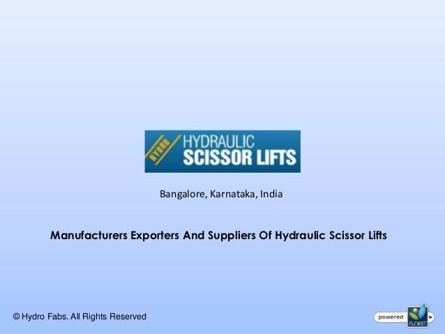 Hydraulic Scissors Lift for Car Lifting, Goods Lifting, material lifting, weight lifting in Bangalore