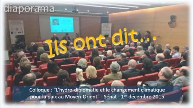 """Arthur NAZARIAN, ministre de l'Energie et de l'Eau au Liban """"Je remercie Olivier Cadic de son soutien au projet CIFME"""" """"La..."""