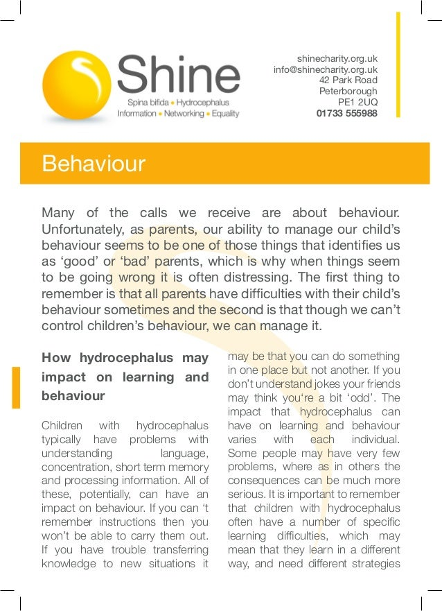 Hydrocephalus behaviour