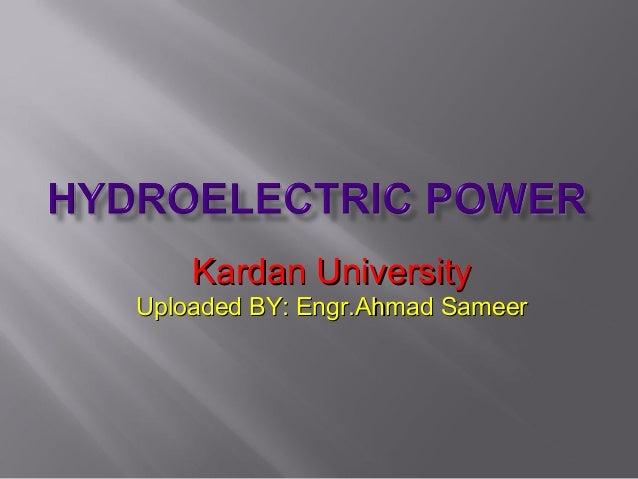 Kardan UniversityKardan University Uploaded BY: Engr.Ahmad SameerUploaded BY: Engr.Ahmad Sameer