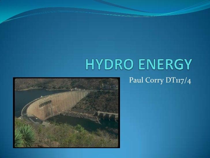 Hydro Energy (P Corry)