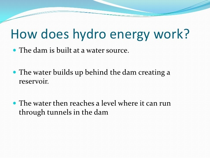 How Does Hydro Energy Work