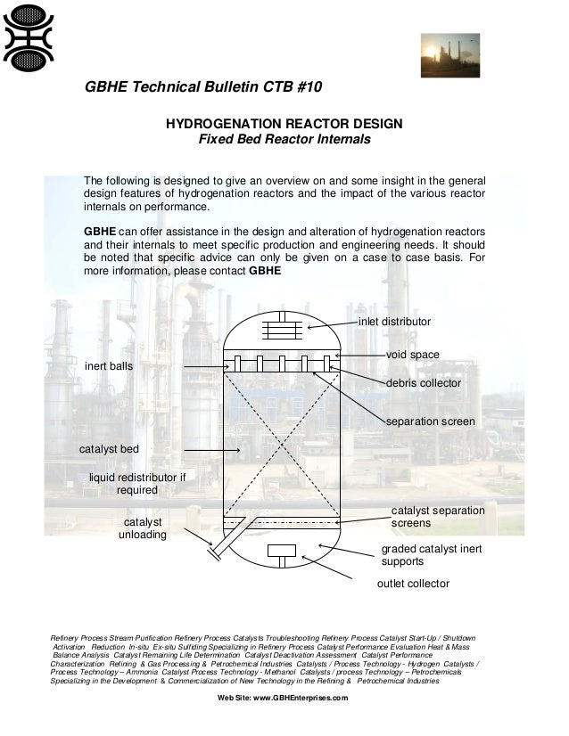 Hydrogenation Reactor Design Considerations