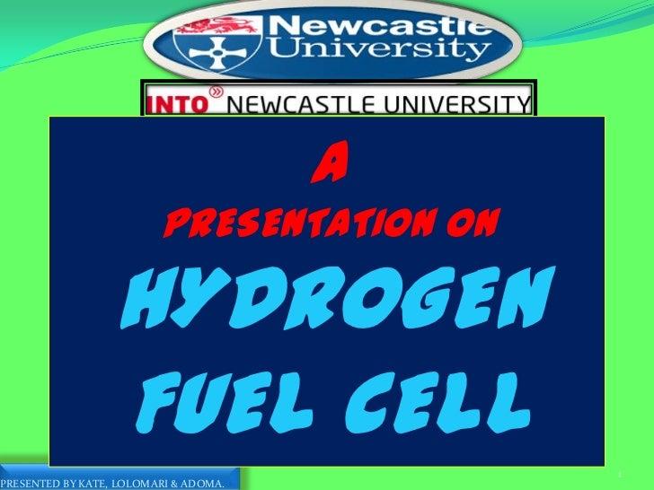 ''Hydrogen fuel cell'' Presentation by KATE, Wisdom Deebeke