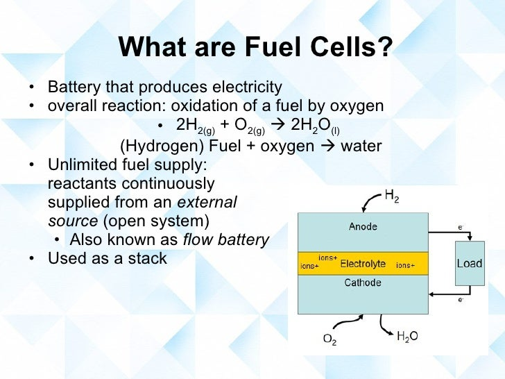 Hydrogen And Oxygen Fuel Cell >> Hydrogen fuel cells