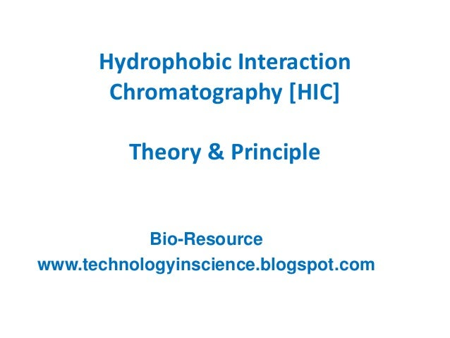 Hydrophobic Interaction Chromatography [HIC] Theory & Principle Bio-Resource www.technologyinscience.blogspot.com