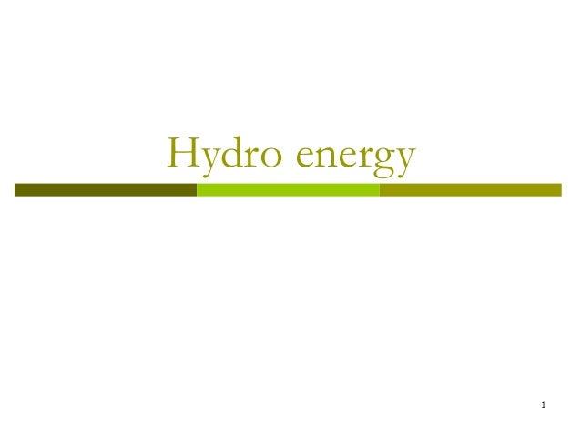 1Hydro energy