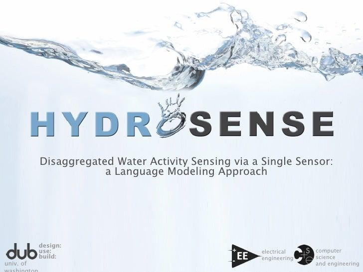 Disaggregated Water Activity Sensing via a Single Sensor:                        a Language Modeling Approach             ...
