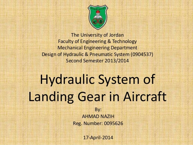 Hydraulic system of landing gear in Aircraft