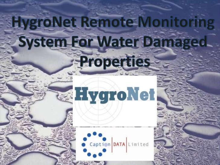 HygroNet Presentation - ChemDry