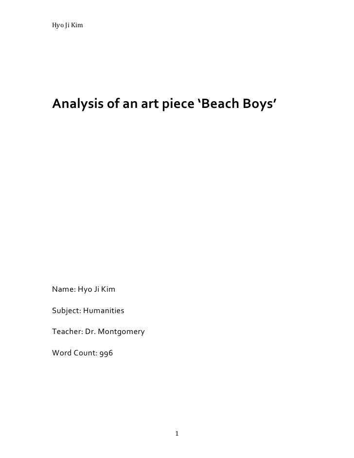 Hyo ji art analysis essay