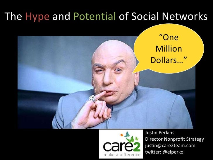 The hype and potential of social networks