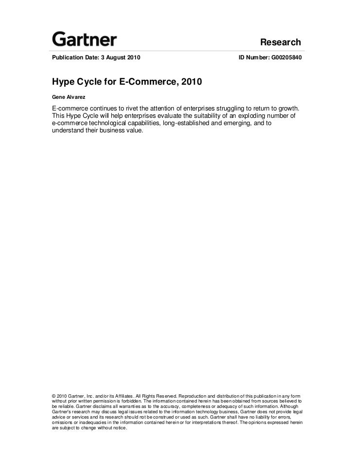 Hype cycle for e commerce, 2010