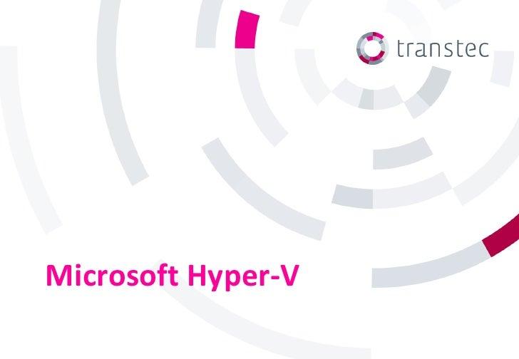 Microsoft Hyper-V explained