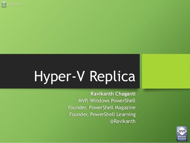 Windows Server 2012 R2 Hyper-V Replica