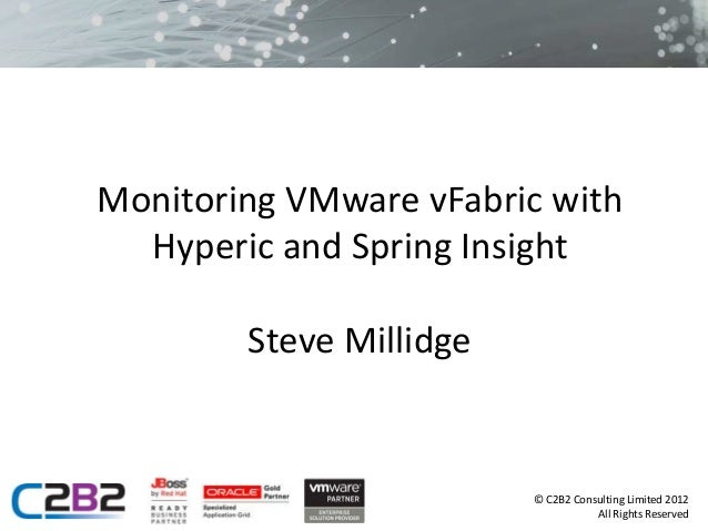 Monitoring VMware vFabric with  Hyperic and Spring Insight        Steve Millidge                         © C2B2 Consulting...